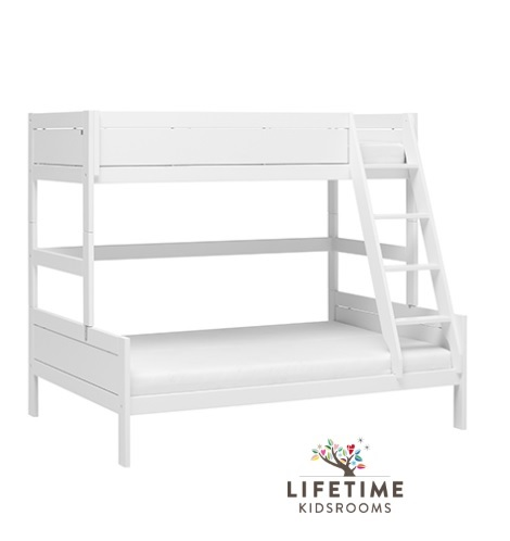 Familybed, logeerbed,stapelbed, wit lifetime