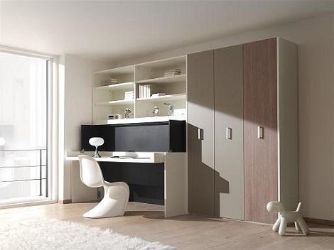 Bureau en bed in uitklapbaar bed in kast elegant uitklapbaar