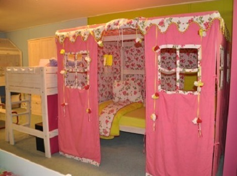 LIFETIME_hemelbed_ 90 x 200_lattenbodem pink_rose_speelhuis_tent_opruiming